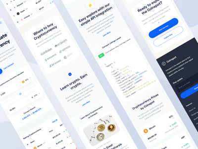 Coinspot - Responsive landing page coin wallet cryptocurrency crypto finance fintech bitcoin trading stock responsive web website designer clean uxdesign uidesign ux design ui