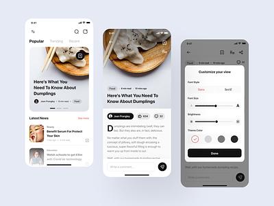 DigiNews - Mobile App android ui8 mobile ios uikit medium story articles news branding designer clean uxdesign uidesign ux design ui