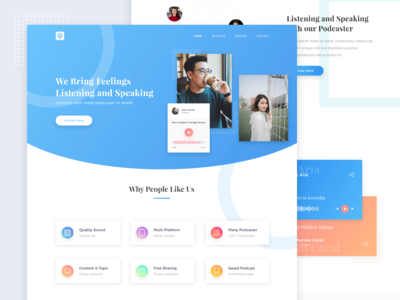 Landing Page Exploration Podcaster