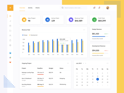 Project Desk - Dashboard App