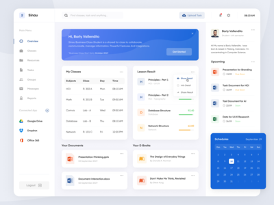 Educational Learning - Dashboard App