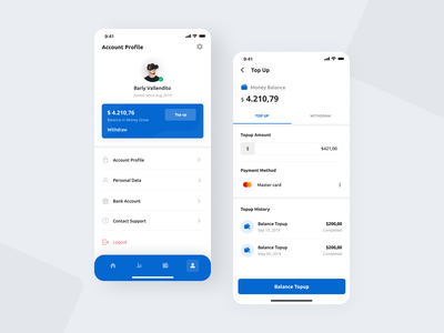 Money Grow - Investment for Startup & Company creative uxdesign designer uitrends mobile design mobile ui design payment app topup stock cryptocurrency crypto money chart investment wallet company