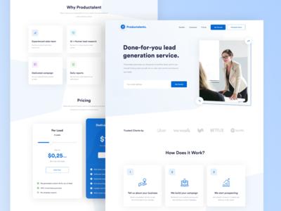 Productalent - Landing Page