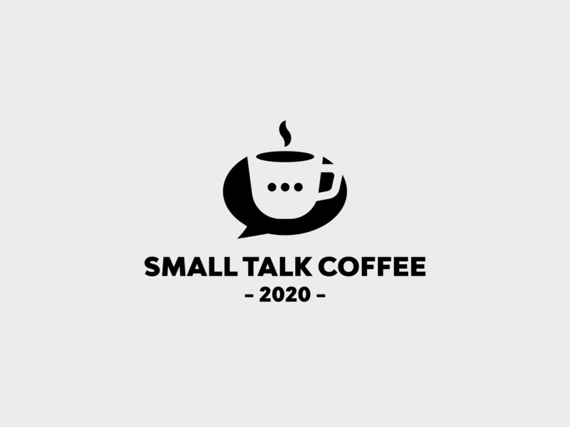 SMALL TALK COFFEE symbol inspiration minimalism vector negativespace branding logo