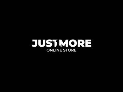 Just 1 More design minimalism branding inspiration blackandwhite negativespace logo