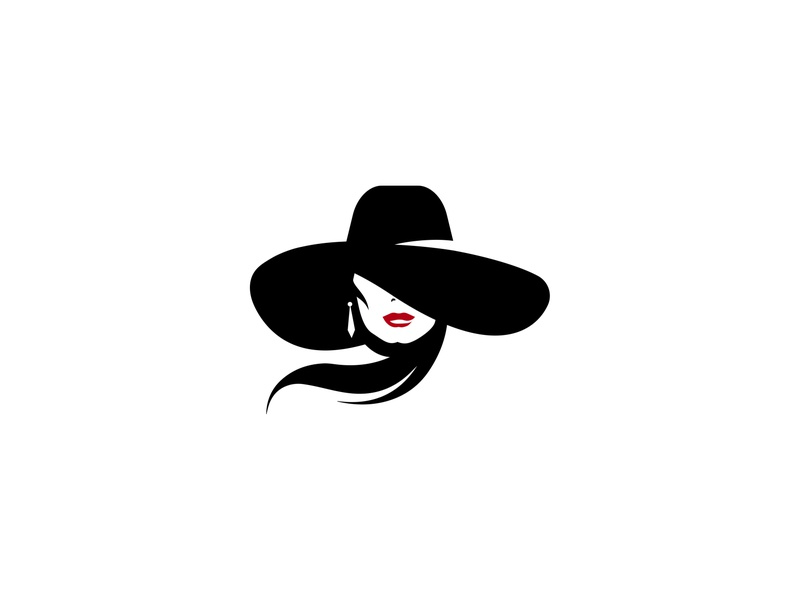 Stranger for sale symbol sign lips woman hat illustration minimalism inspiration design branding silhouette logo