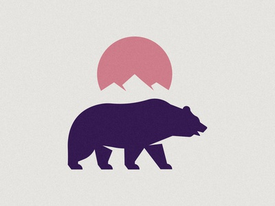 Bear Project negativespace negative space sun bear minimalism inspiration design vector branding silhouette logo