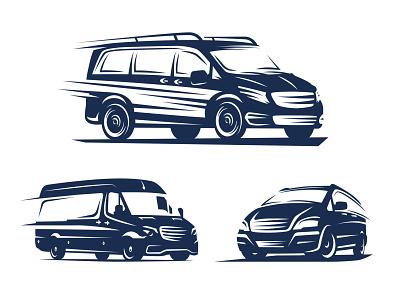 Minibuses vector illustration shutterstock illustration inspiration vector silhouette logo