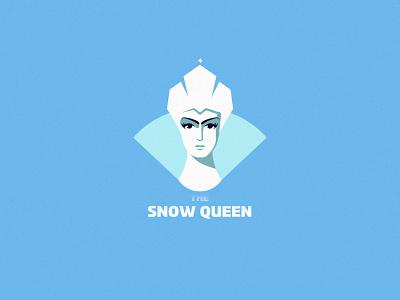 The Snow Queen logo illustration art minimalism design inspiration vector snow queen