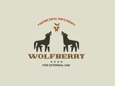 WOLFBERRY minimalism design branding inspiration vector logo berries forest