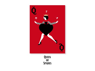 Queen of Spades  concept concept silhouette minimalism illustration design vector inspiration card queen