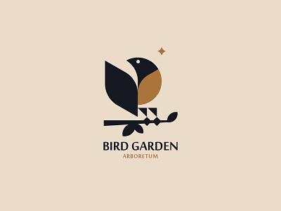 BIRD GARDEN vector inspiration minimalism silhouette branding design logo bird