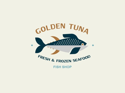 GOLDEN TUNA inspiration design branding vector logo tuna fish