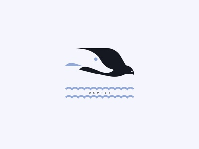 OSPREY silhouette vector inspiration negativespace design branding logo fishing hunting fish bird pike