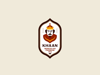 KHAAN sign symbol face inspiration illustration design branding vector logo