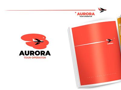 AURORA illustration minimalism silhouette design branding vector inspiration logo tourism dream flight