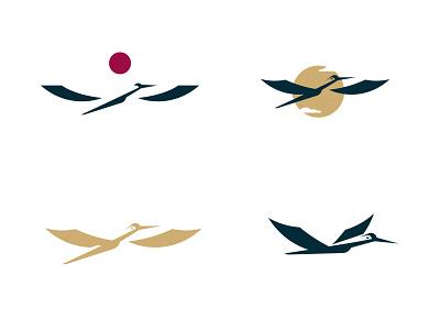stork work process negativespace illustration minimalism silhouette design branding vector inspiration logo