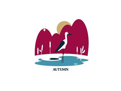 AUTUMN mini illustration vectorart bird autumn illustraion inspiration silhouette design vector