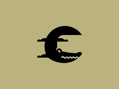 Crocodile silhouette minimalism inspiration design branding vector icon logo crocodile