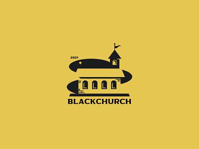 BLACKCHURCH silhouette icon illustration inspiration design branding vector negativespace minimalism logo