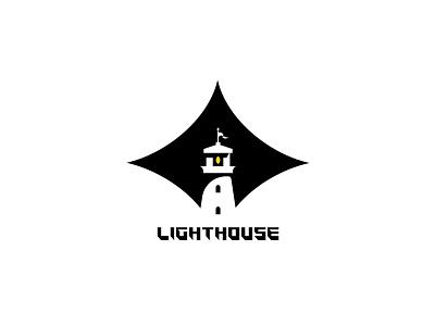 Lighthouse logo lighthouse silhouette negativespace minimalism vector inspiration design branding logo
