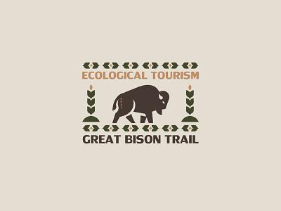Great Bison Trail minimalism silhouette vector design branding inspiration logo animal wildelife bison