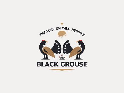 BLACK GROUSE illustration inspiration design branding vector logo forest bird