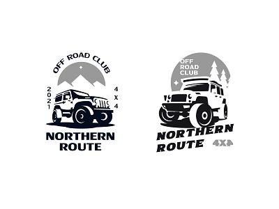 NORTHERN ROUTE negativespace illustration inspiration design branding vector logo