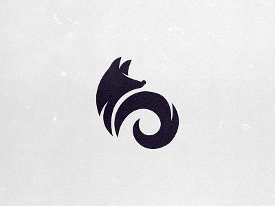 fox logo minimalism ears muzzle tail silhouette logo fox