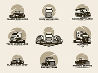 cars and trucks vector set