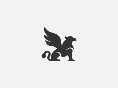 Griffin logo wings design branding vector silhouette logo griffin