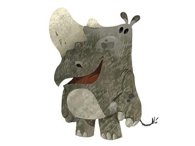 Mr. Rhino characterdesign character rhino digital digitalpainting design style animation vizdev