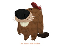 Mr. Beaver With Red Hat
