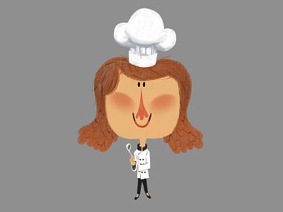 Little Girl Chef characterdesign character chef digital digitalpainting design style vizdev