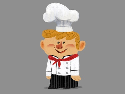 Little Boy Chef characterdesign character chef digital digitalpainting design style vizdev