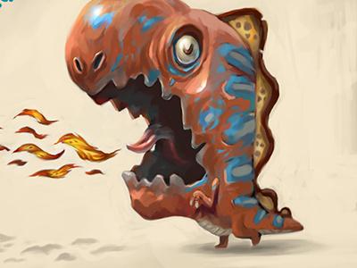 Moni Dino character design dinosaur cute children art animation art