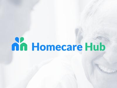 Homecare Hub Final Logo h logo symbol medical healthcare wordmark agency icon rebrand branding logo