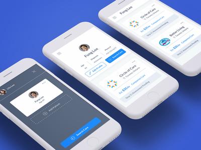 Homecare Hub User Dashboard - Mobile mobile design product design ui ux healthcare healthtech card design mobile dashboard