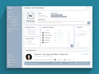 Employer Dashboard - HiFi Wireframe