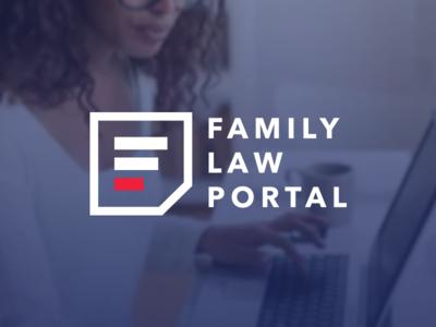 Family Law Portal Logo separation lawyer law family portal divorce wordmark agency icon branding logo