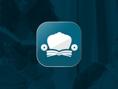 Book Lounge Logo brand identity identity ios icon apple book app reading app chair logo book logo branding logo mark logo mark app icon