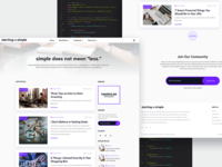 Starting with Simple Blog Design