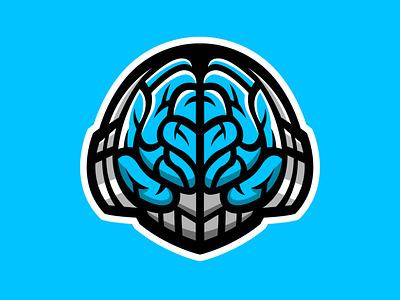 Brain gaming mascot logo gaminglogo gaming head