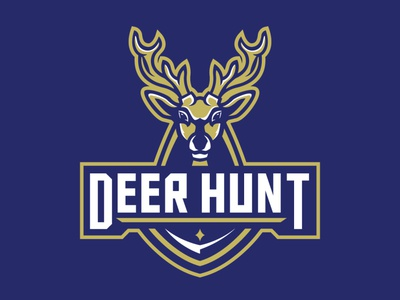 Deer mascot logo esport sport gaming logo mascot adventure outdoor hunter hunting hunt animal deer