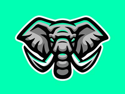Elephant mascot logo business community team esport sport gaming head cartoon mascot mammoth big zoo mammals animal elephant