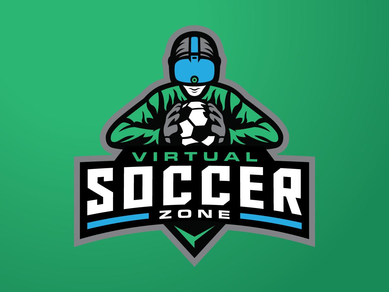 Virtual Soccer illustration inspiration modern badge mascot virtual sport design logo