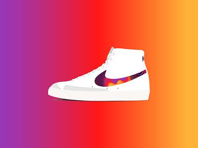 Nike x Tame Impala Blazer sneaker art sneakerhead sneaker psychedelic tame impala blazer nike