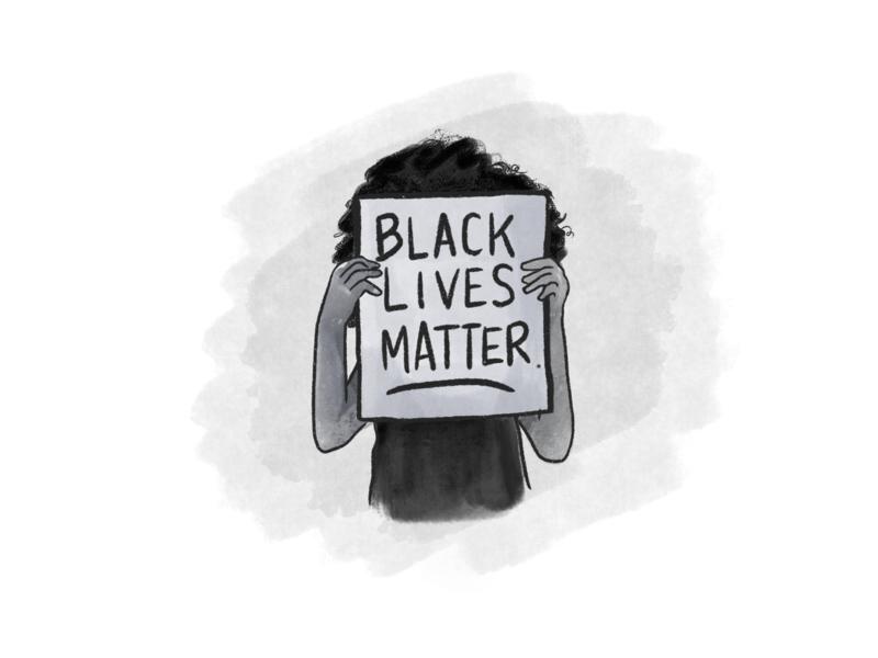Black Lives Matter illustration social justice protest blm black lives matter