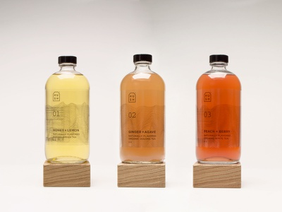 Hush Tea beverage bottle tea packaging package design
