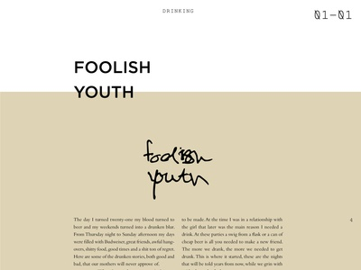 Foolish Youth